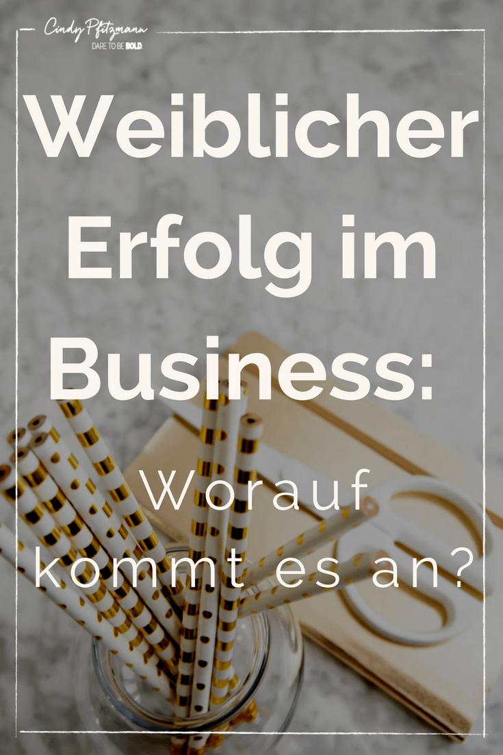 weiblicher Erfolg im business