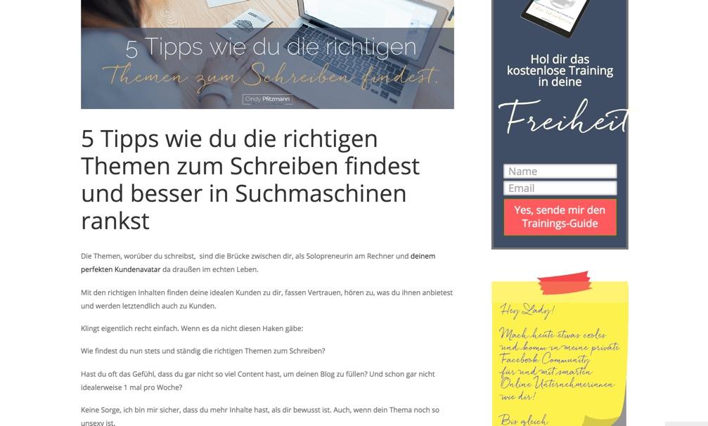 website sichtbar blogartikel
