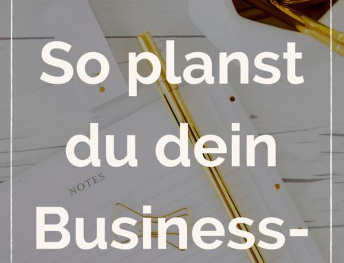 Wie du dein bestes Business Jahr planst.