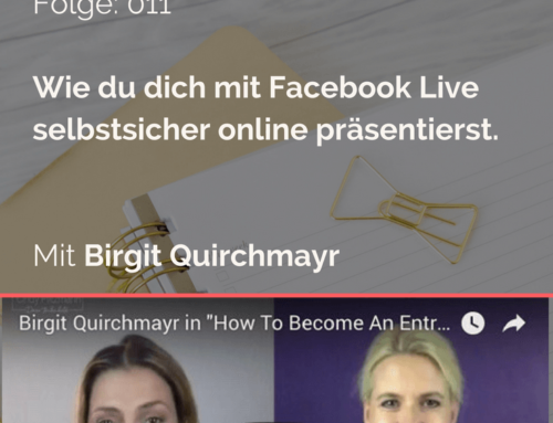 """How To Become An Entrepreneur"" – Birgit Quirchmayr"