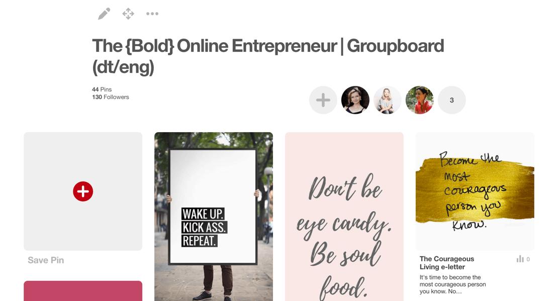 Pinterest Gruppenboard