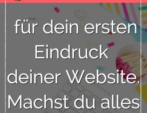 3 Sekunden für den ersten Eindruck deiner Website. Machst du alles richtig?