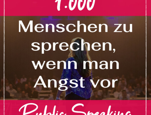 Wie es ist vor  1.000 Menschen zu sprechen